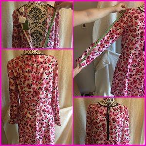 Floral Kate spade dress, spring collection.